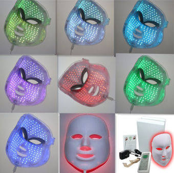 7 Colors LED Photon Facial Mask Skin Care Anti-Aging Therapy Photodynamics PDT - Intl - 2