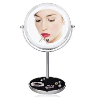 7 Inch Touch-Activated Makeup Mirror 5X Magnifying Two-SidedDimmable LED Lighted Vanity Mirror - intl
