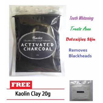 Activated Charcoal 100g w/ FREE Kaolin Clay 20g