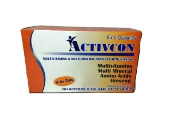 Activcon Multivitamins & Multi Mineral Capsules with GinsengFood Supplement