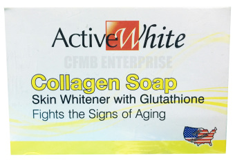 Active White Collagen Soap Skin Whitening with Glutathione 135g,Set of 6 - 2