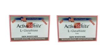 Active White Glutathione Skin Whitener Soap 120g. Set of 2
