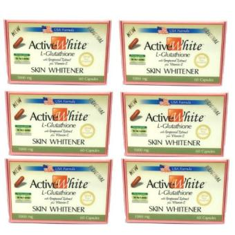 Active White L-Glutathione 60capsules set of 6