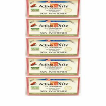 Active White L-Glutathione Skin Whitener 1000mg Capsules Box of 60Set of 5pcs.
