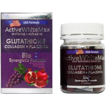 Active White Max Glutathione Glutathione with Collagen and Placenta1050mg with FREE Glutathione Precursors Complex
