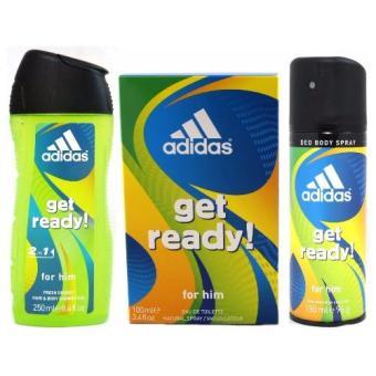Adidas Get Ready Set (Eau de Toilette 100ml + Deo Spray 150ml +Shower Gel 250ml + Toiletry Bag) - 2