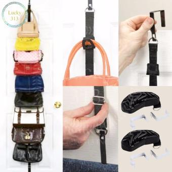 Adjustable Over Door Straps Hanger Bag Rack