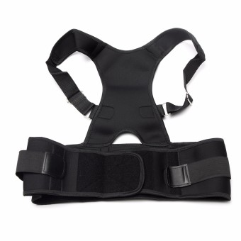 Adjustable Posture Back Lumbar Support Corrector Brace Shoulder Band Belt Blcak S Comfortable - intl Price Philippines