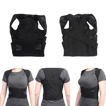Adult Children Back Straightening Posture Correction Waist LumbarShoulder Support Belt(M) - intl - 5