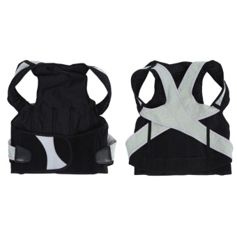 Adult Students Posture Shoulder Back Corrector Lumbar Waist SupportCorrection Belt(XL) - intl - 4