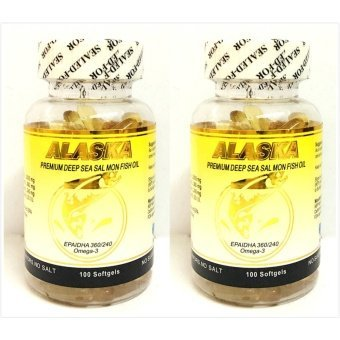 Alaska Premium Deep Sea Salmon Fish Oil with Omega-3 Softgel Bottleof 100 Set of 2 Price Philippines