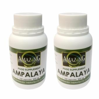 Amazing Food Supplement Ampalaya 500mg Capsules Bottle of 100 Setof 2
