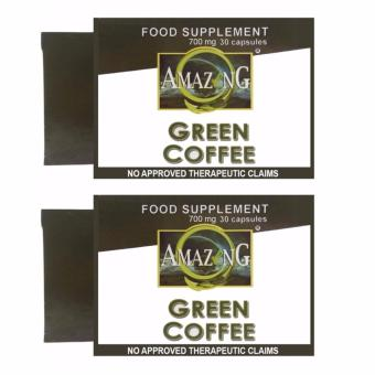 Amazing Food Supplement Green Coffee Bean Extract 700mg Capsules,Box of 30 Set of 2