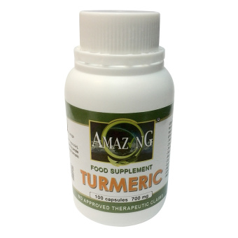 Amazing Food Supplement Turmeric 700mg Capsules Bottle of 100