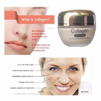 Andrea Shine COLLAGEN Face Cream Whitening Moisturizing CollagenMakeup Base Cream Anti-Wrinkle, Anti-Ageing Day Treatment andLiquid Foundation in one