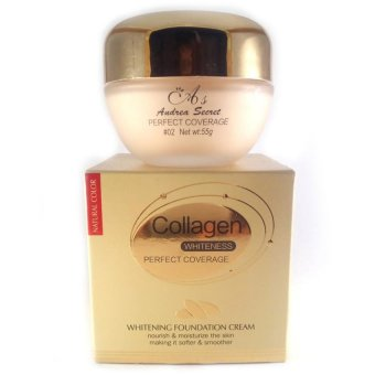Andrea's Secret Collagen Perfect Coverage Whitening FoundationCream Net wt: 55g