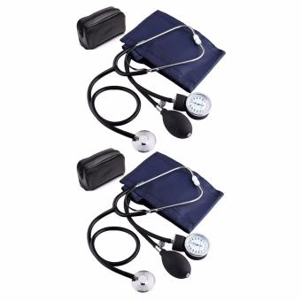 Aneroid Sphygmomanometer Blood Pressure Measure Device Kit CuffStethoscope Set of 2