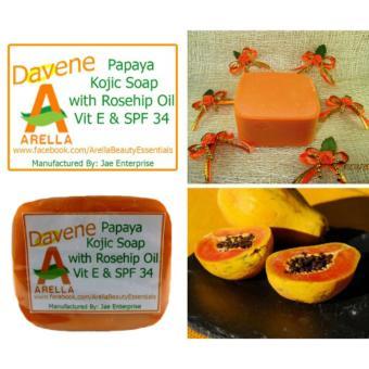 Arella Organic Davene Papaya Kojic Facial & Body Soap - 4