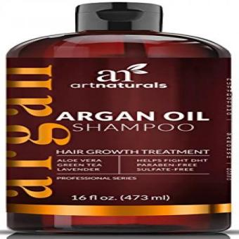 Art Naturals Organic Argan Oil Hair Loss Shampoo for Hair Regrowth 16 Oz - Sulfate Free - Best Treatment for Hair Loss Thinning & - Growth Product For Men & Women - Infused with Biotin - 2016