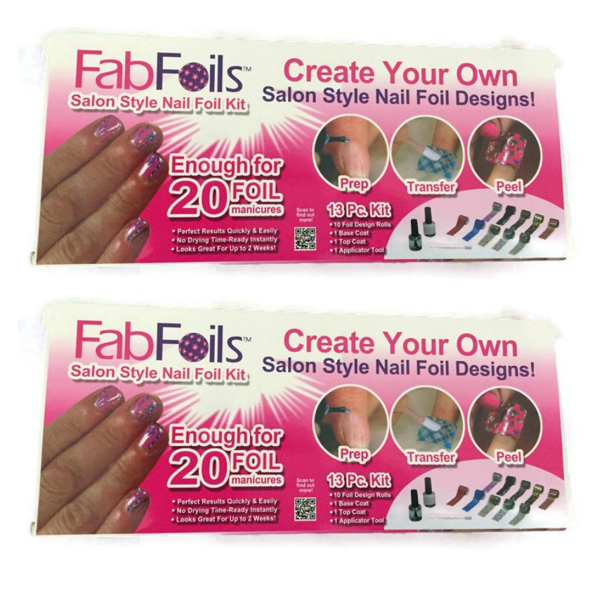 As Seen on TV FAB Foils 13-piece Nail Art Kit (Multicolor) Set of 2 ...