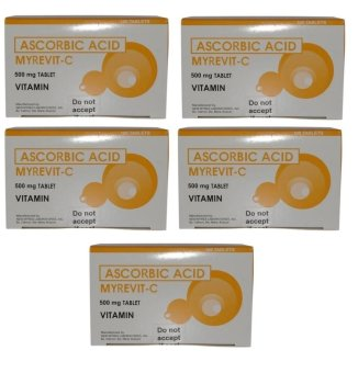 Ascorbic Acid Myrevit C Vitamin C 500mg Tablet Box of 100 Set of 5 Price Philippines