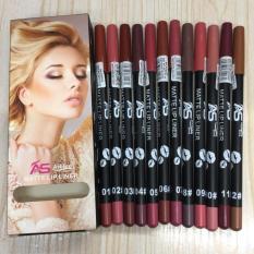 Ashley Shine 12pc Multicolor Matte Lip Liner Philippines