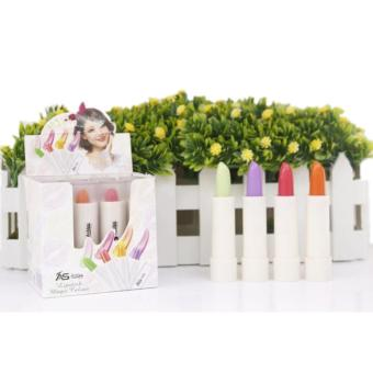 Ashley Shine Lipstick Magic Color 12pcs(Strawberry&Apple&Orange&Grape)