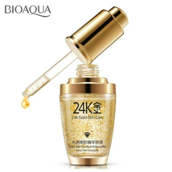 Authentic BioAqua 24k GOLD Face Serum with Hyaluronic acid andCollagen for Anti-aging 30ml