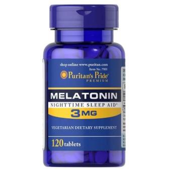 Authentic Puritan's Pride Melatonin Night-time Helps Sleep-aid 3mg120 Vegetarian Tablets