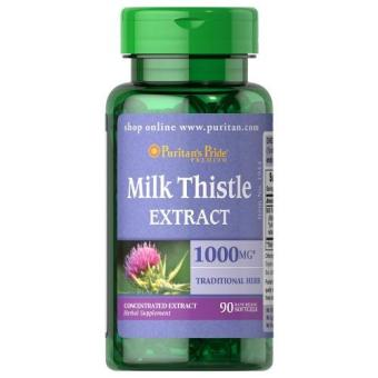 Authentic Puritan's Pride Milk Thistle Silymarin 4:1 Extract withSilymarin for Liver Health and Detoxification1000mg 90 softgels