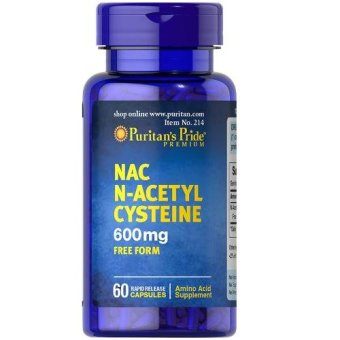 AUTHENTIC Puritan's Pride N-Acetyl Cysteine NAC 600mg GlutathioneBooster and Anti-oxidant 60 capsules
