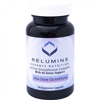 Authentic Relumins Active Glutathione Complex Max Dose WhiteningAnti-aging with 6X Boosters Gluta Support, 60 Vegetarian Capsules Price Philippines
