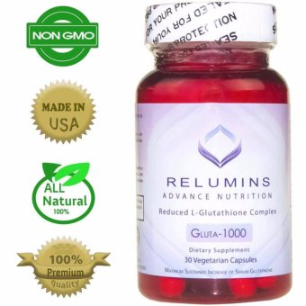 AUTHENTIC Relumins Advance Nutrition Gluta 1000 L-GlutathioneSkin-Whitening Anti-aging Rose-hips, Alpha Lipoic acid 30 Capsules
