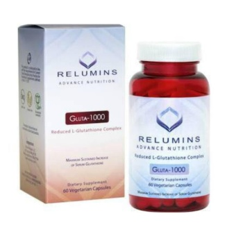 AUTHENTIC Relumins Advance Nutrition Gluta Whitening Anti-aging 1000mg L- glutathione Complex 60 Veggie Capsules