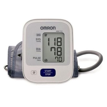 Automatic Arm Type Blood Pressure Monitor Brand Omron HEM-7121 (White) without AC Adapter