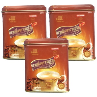 Baian Lishou Slimming Coffee Bundle of 3 cans (STRONG VARIANT) (15 sachets/can)