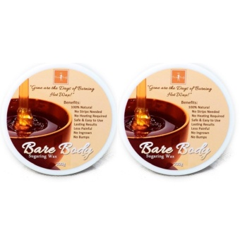 Bare Body Essentials Sugaring Wax Hair Removal (Honey) 200g SET of2 with FREE Pilaten Black Head Remover Pore Strip