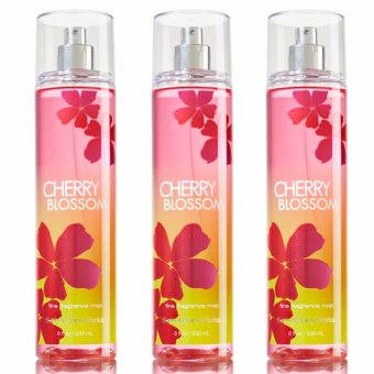Bath and Body Works Cherry Blossom Fine Fragrance Mist 235ml (Lot of 3)