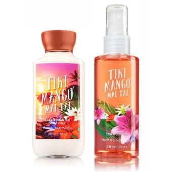 Bath & Body Works Tiki Mango Mai Tai Body Spray 88ml Bundle with Bath & Body Works Tiki Mango Mai Tai Lotion 88ml