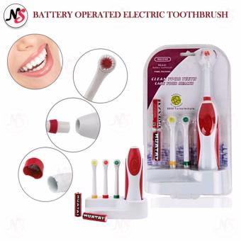 Battery Operated Electric Toothbrush RS-G07 (Red)