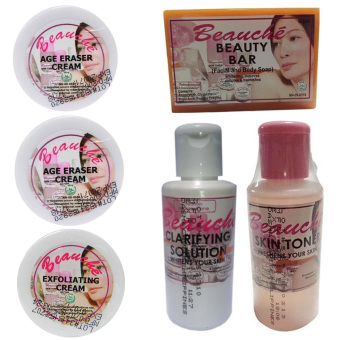Beauche Beauty Pack Set (Creams are 1 Exfoliating Cream and 2 AgeEraser Creams)