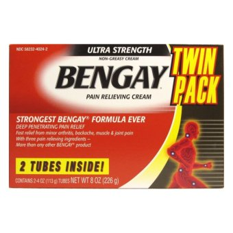 Bengay Ultra Strength Pain Relieving Cream, 2 Count, 4 Ounces Box