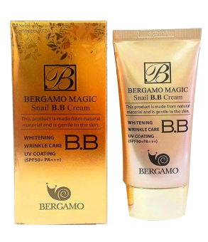 Bergamo Magic Snail BB Cream 50ml Korean Cosmetics