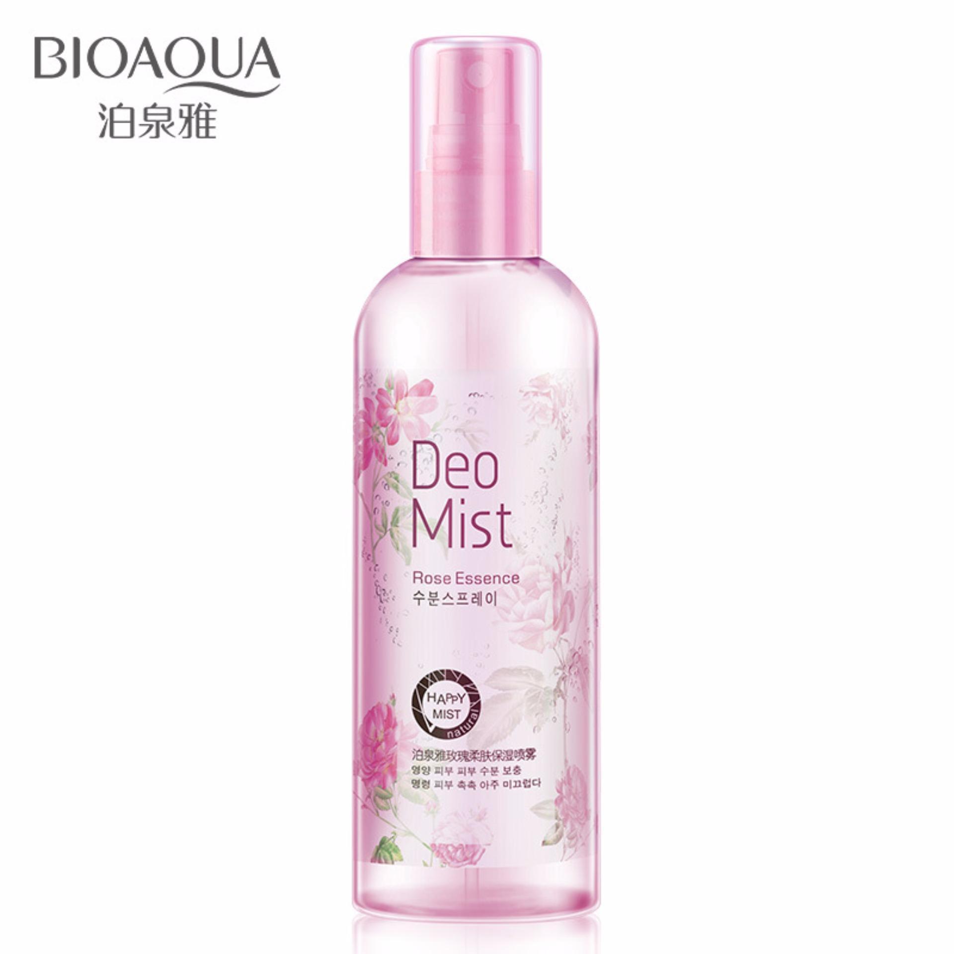 Bioaqua Rose Essence Deo Mist Whitening Anti-aging Rose SkinMoisturizing Spray Oil Control And Relieve Pores