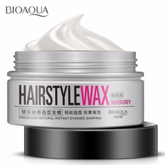 Bioaqua Silver Gray Wax Color Men Women Professional Hair Pomades Moisturizing Styling Fluffy Matte Stereotypes Waxes Hair Gel Pomades