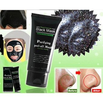 Blackhead Remover Cleaner Purifying Deep Cleansing Acne Black Mud Face Mask Peel-off(50ml,Black) - intl - 4