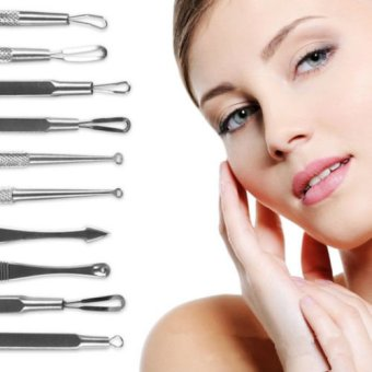 Blackhead Whitehead Facial Acne Spot Pimple Remover Extractor Tool Kit-5PCs/Set - intl