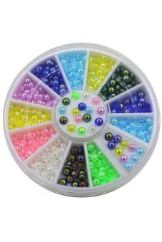 Blue lans Nail Art Decoration Wheel