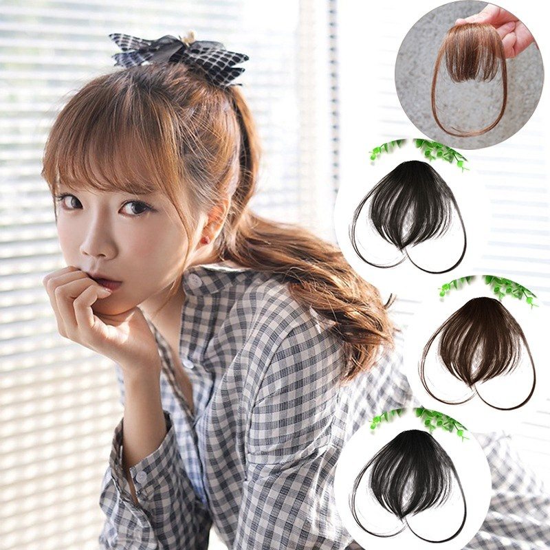Philippines Brand New Cute Short Neat Bangs Clip On Front Neat