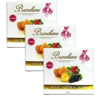 Bumebime Mask Whitening Soap 100g Bundle of 3 (NEW PACKAGING)